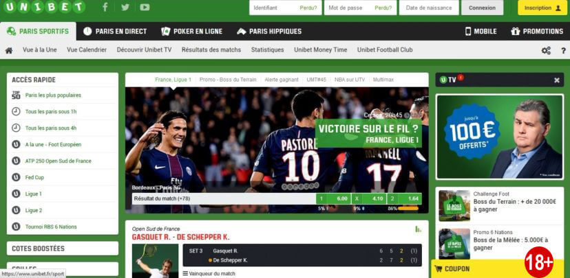 Unibet code promotionnel